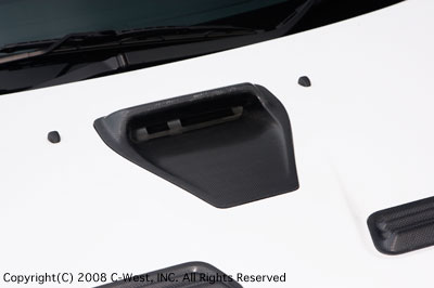 LANCER EVOLUTION CZ4A BONNET AIR INTAKE SCOOP