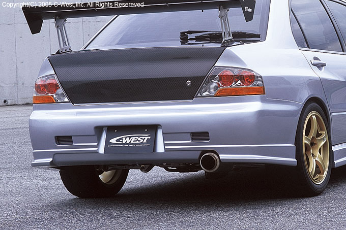 Clearance Sale C West Amp Varis Rear Bumper For Evo 8 9 Evolutionm Mitsubishi Lancer And